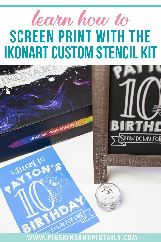 How to Screen Print on a Chalkboard with IKONART Custom