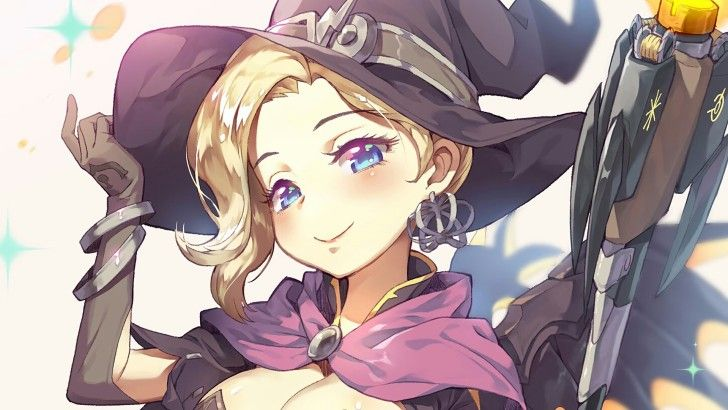 Download this HD wallpaper Witch Mercy Girl Art Overwatch