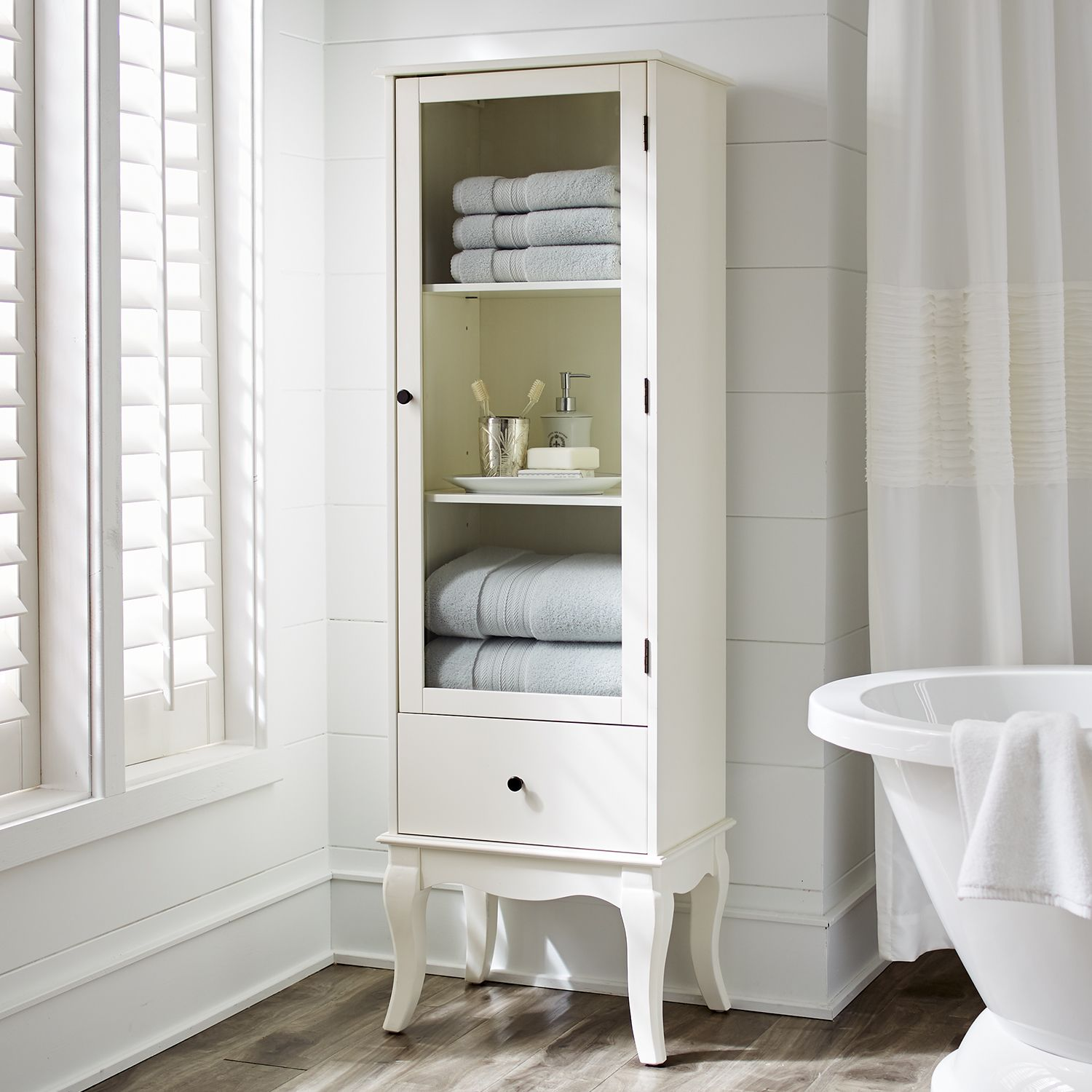 Toscana Tall Cabinet - Snow White - Glass | *Musical Instrument ...