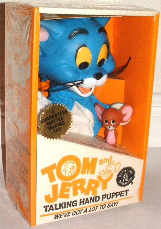 Mattel 1963 Tom And Jerry Talking Hand Puppet Vintage Toys