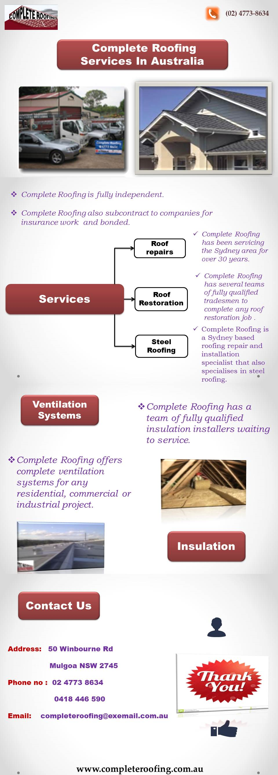 Complete Roofing offers roof restoration and replacement ...