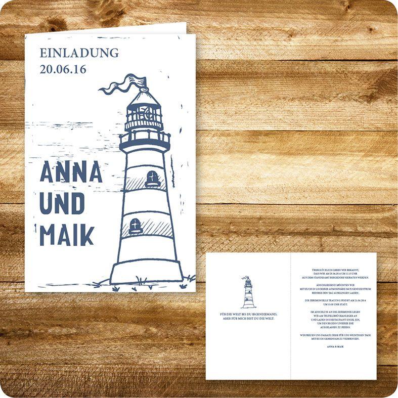 Elegant Einladungskarte Maritim, Hamburg, Einladung Für Hochzeit, Individuell  Designed By Die Kartenfrau