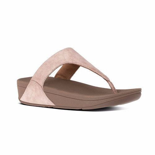 FITFLOP Shimmy Suede Thong Women | Rose Gold (C64)