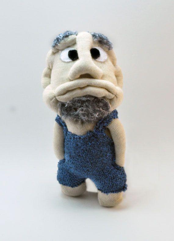 Handmade Hillbilly sock man made from sock country sock by sockart