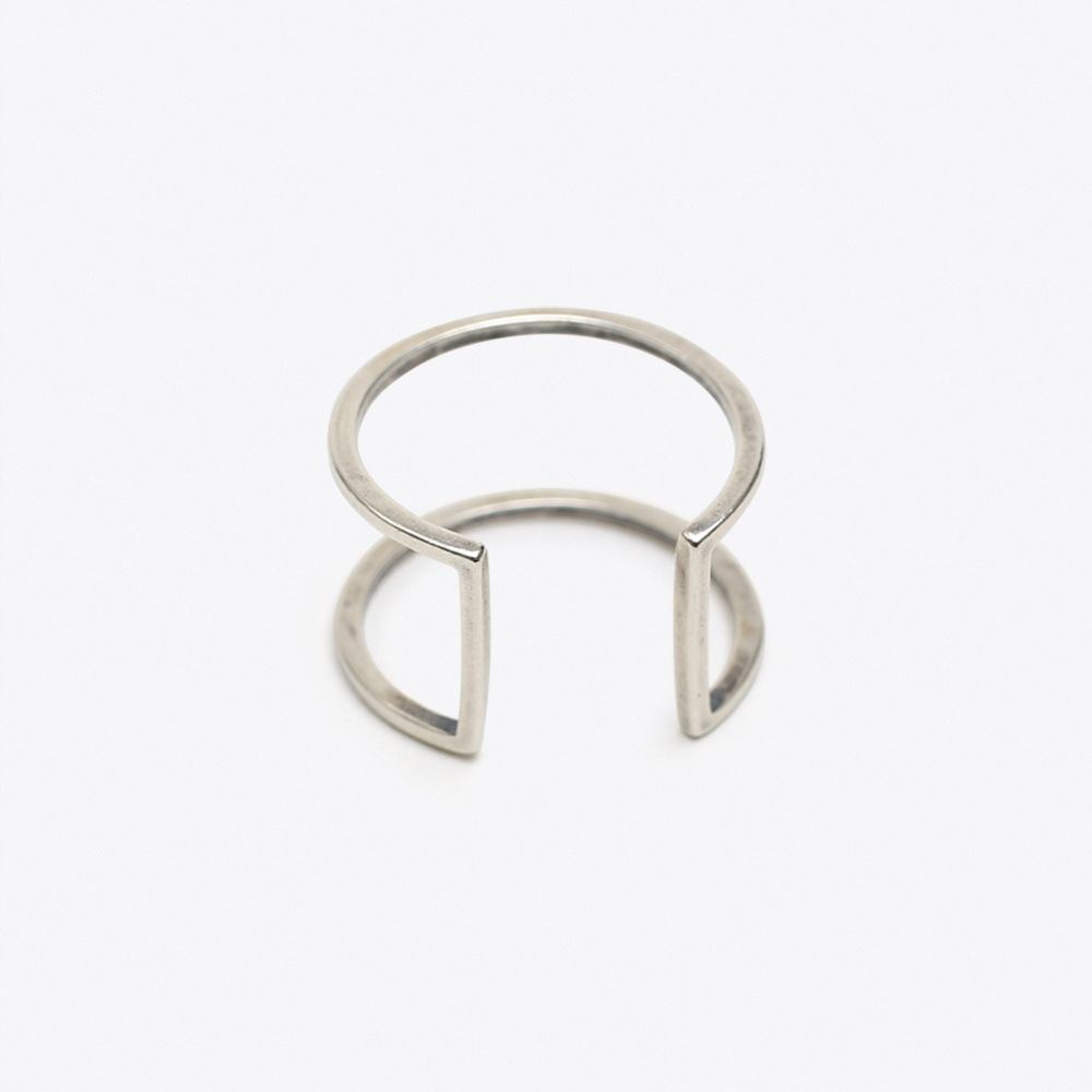 Cage Frame Ring in Silver- Project J