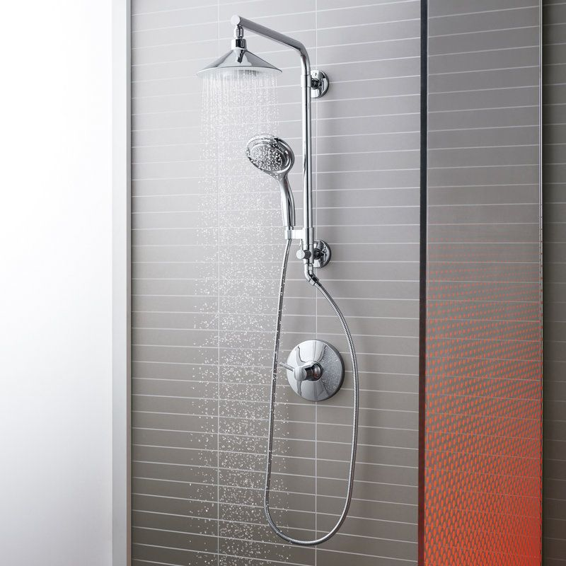 View The Kohler Moxie Hydrorail Custom Shower System With Flipside Handshower At Faucetdirect