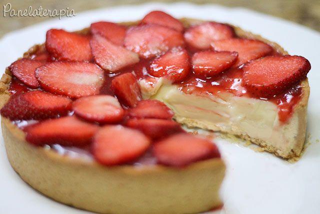 PANELATERAPIA - Blog de Culinária, Gastronomia e Receitas: Torta de Morango