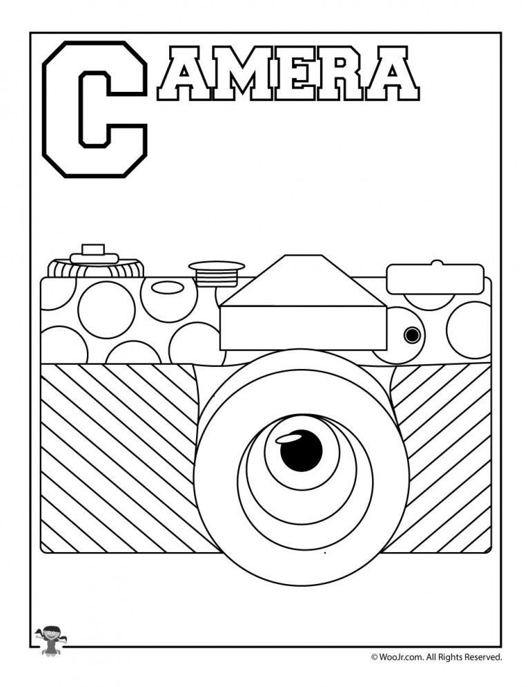 C Is For Camera Color Activities Alphabet Coloring Pages