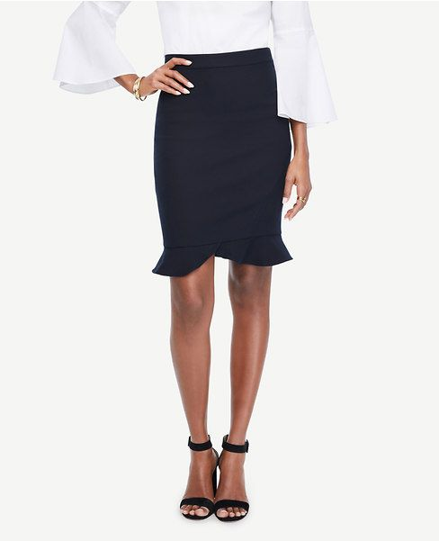 ae47ae048ad324 Primary Image of Ruffle Hem Pencil Skirt | Inspirations