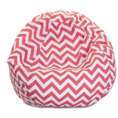 Chevron Bean Bag Chair Color Coral