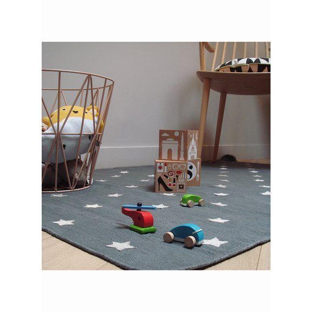 Tapis épais de chambre pour enfant ETOILES en Coton, par Art for Kids, Tapis pour enfant