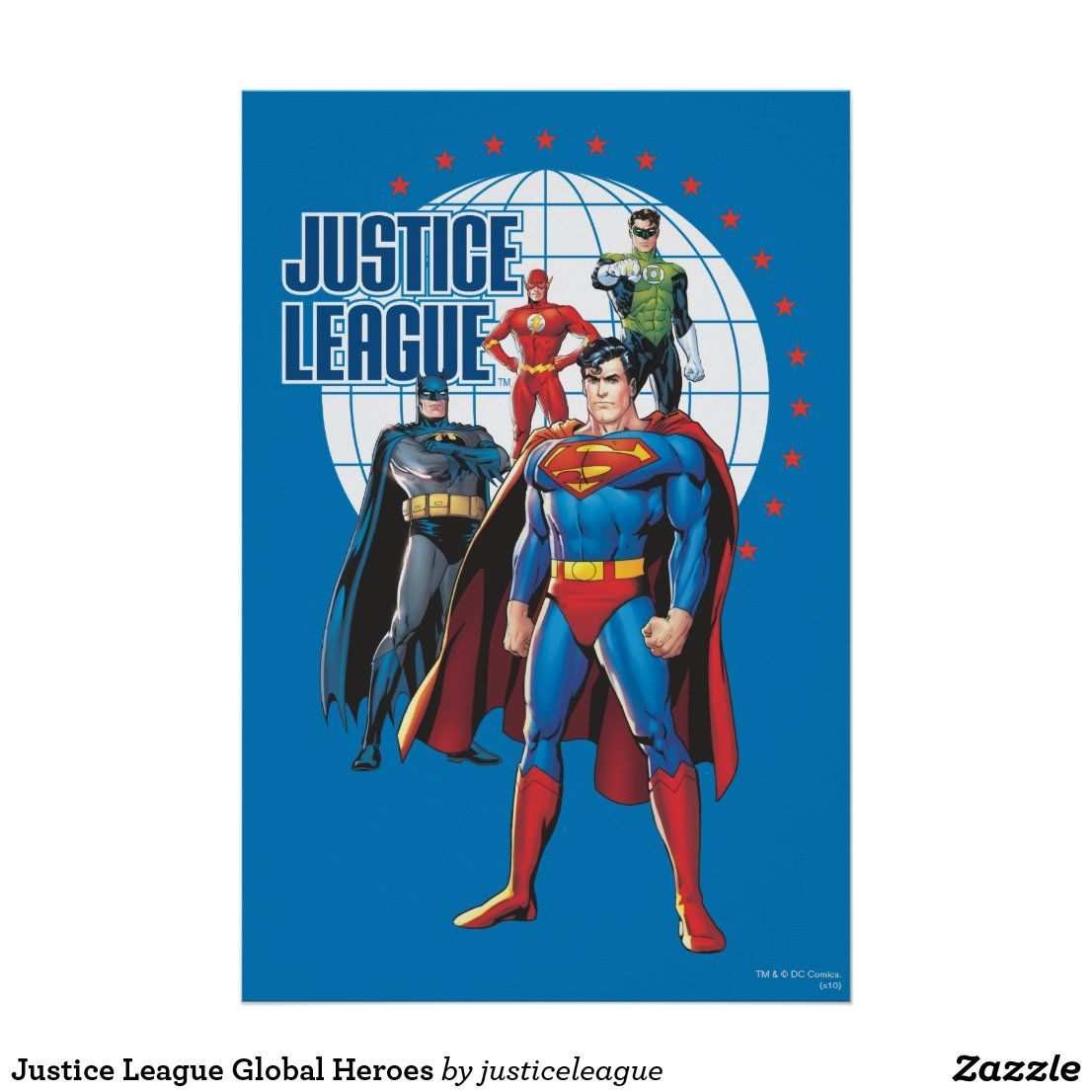 Justice League Global Heroes Poster In