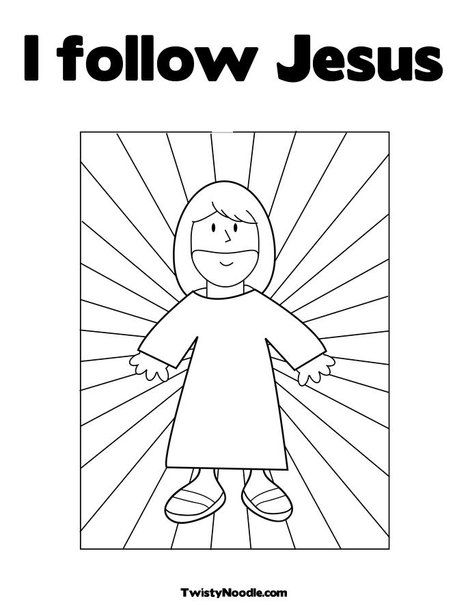 I Follow Jesus Coloring Page From Twistynoodle Com Apparently You