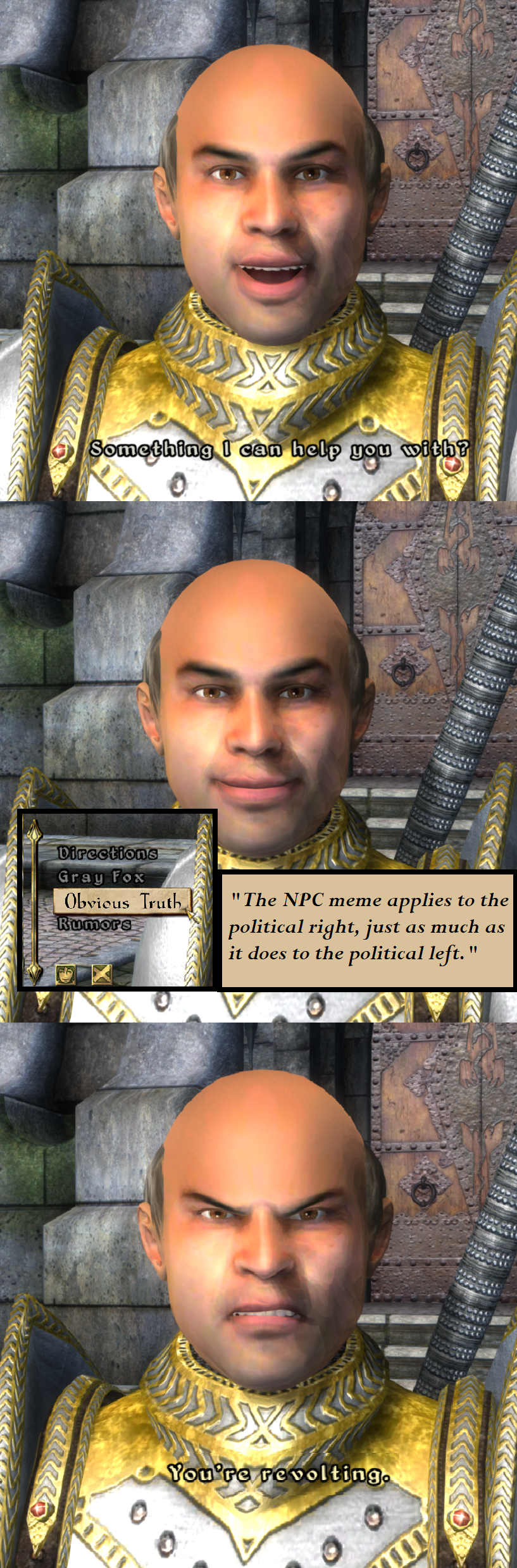 Oblivion Npc Npc Wojak Animaniacs Memes Oblivion