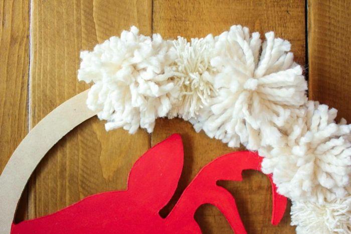 Motivos navide os proceso para hacer una corona de - Como hacer motivos navidenos ...
