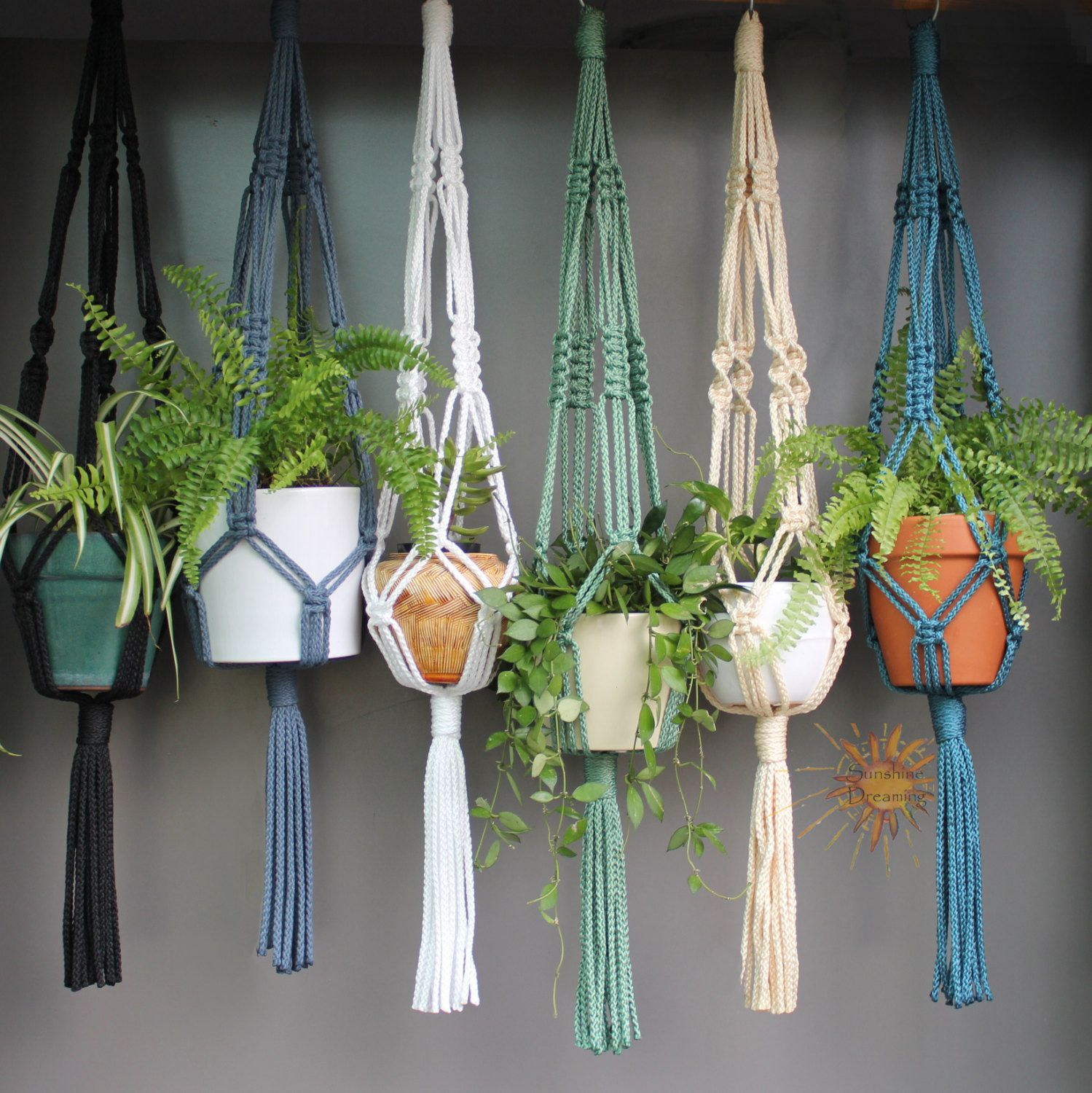 Image result for macrame planters