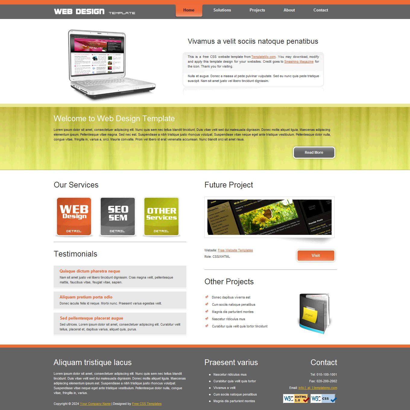 Free Web Design Templates local business advertising | local ...
