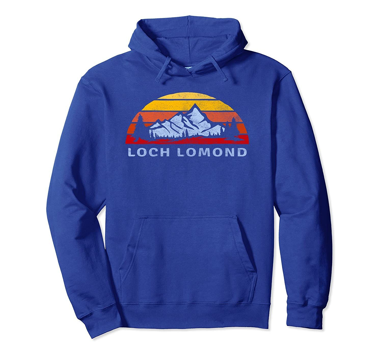 Loch Lomond Retro Mountain Sunset Hoodie-Veotee