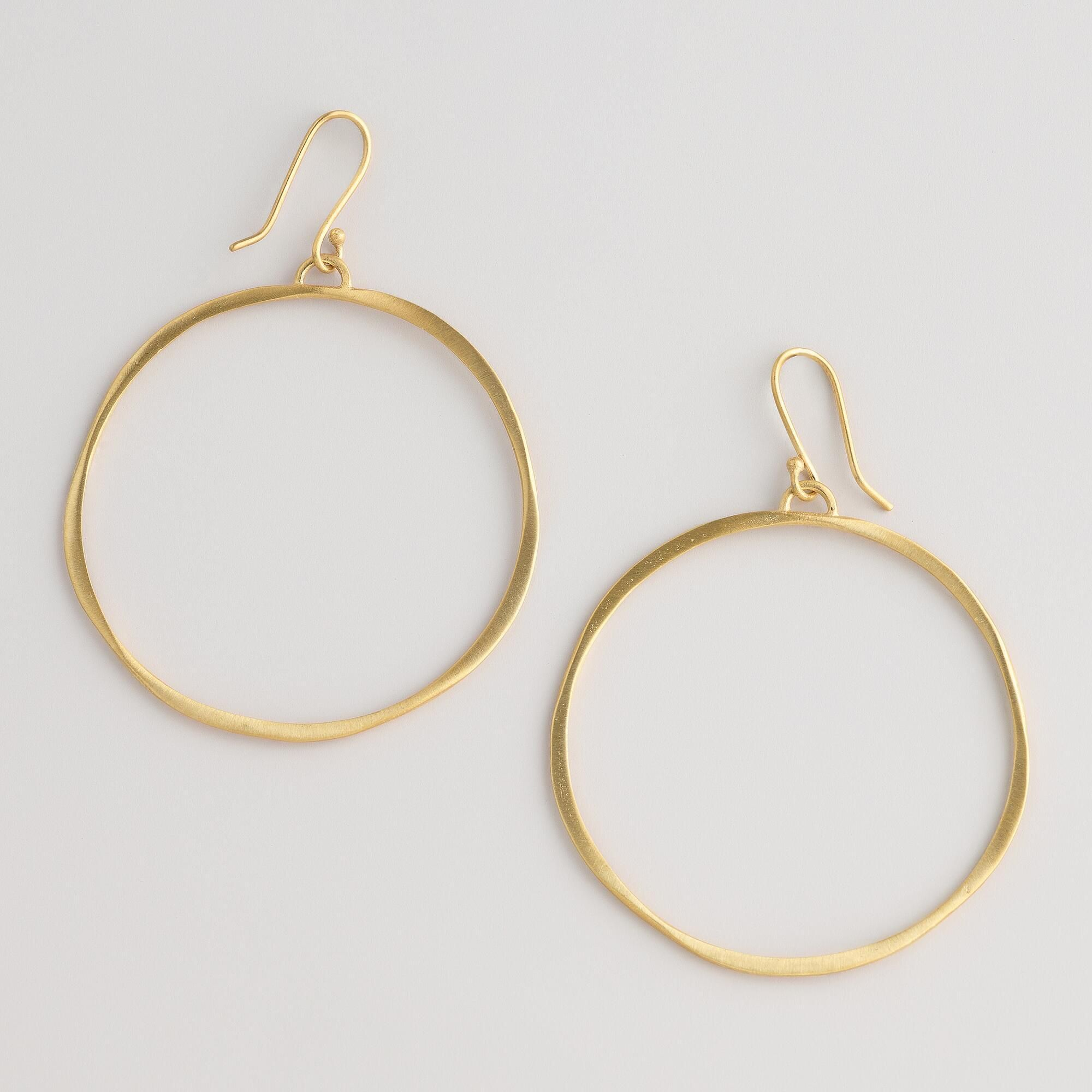 Matte Gold Hoop Earrings World Market