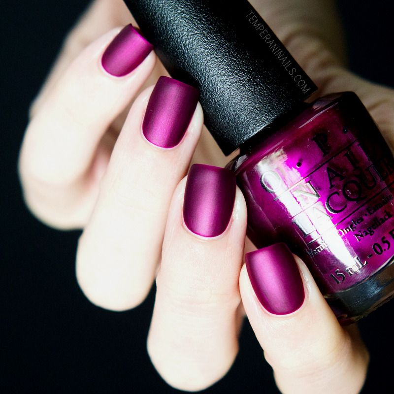 Nailpolis Museum of Nail Art | OPI Matte top coat and OPI Kiss Me ...