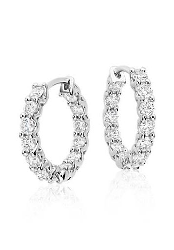 These 18k White Gold Hoop Earrings Showcase 1 75 Carats Of