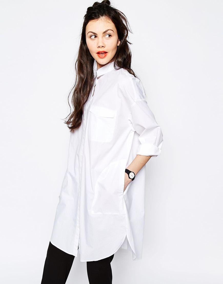 fe0922cba6d Monki Oversized Shirt Dress | Moda | Oversized shirt dress, Shirt ...
