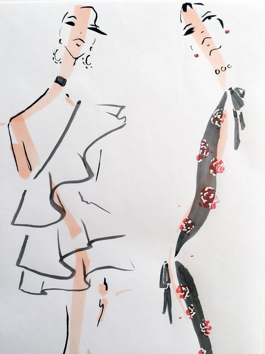 The Women By Jenny M Walton Markers And Microns Fashion Illustrations Techniques Fashion Illustration Sketches Fashion Art Illustration