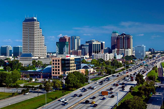 Orlando Skyline Orlando Skyline City View Florida City