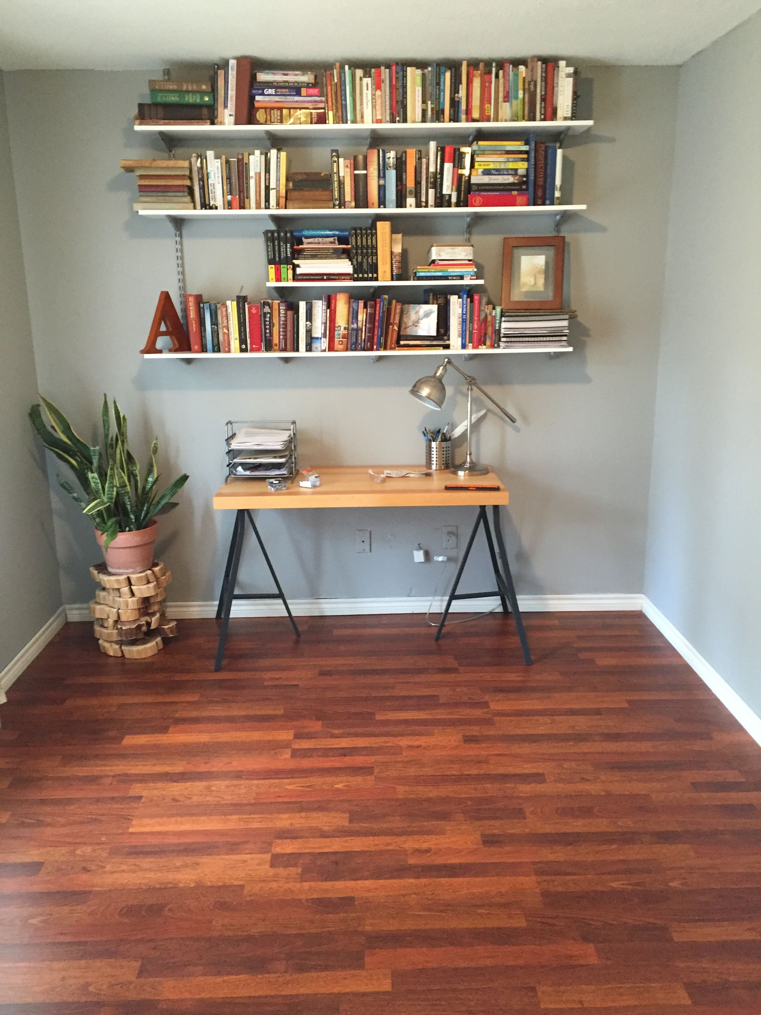 Modern And Fun Office From Taylor A, Quickstep Brazilian Cherry Laminate Flooring