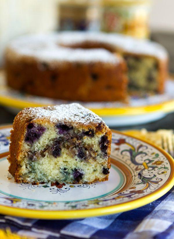 Italian Food Forever » Blueberry Streusel Cake