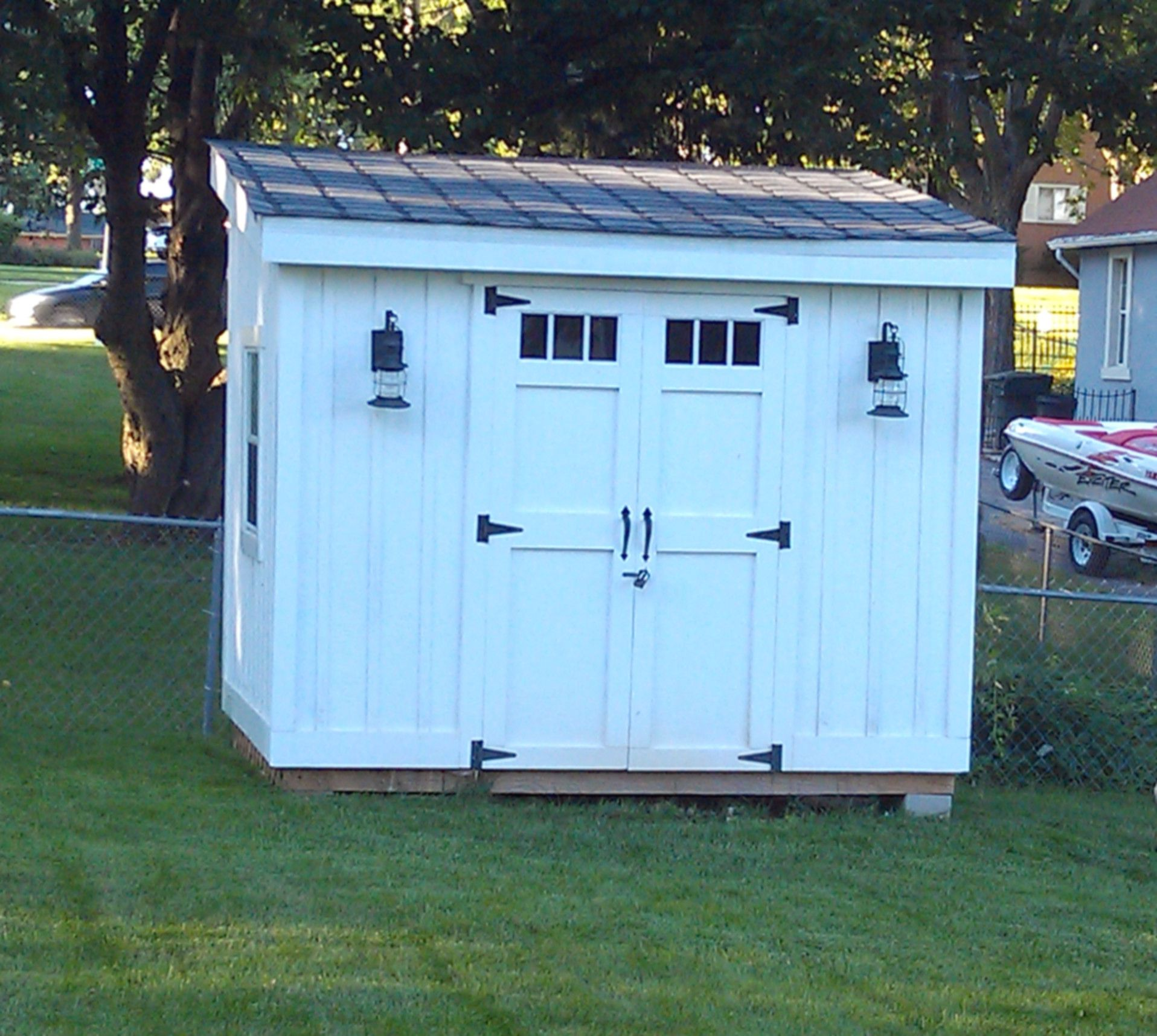 Diy lean to or slanted roof shed built after a couple different plans pictures found online