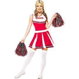 Kids Bourgogne pom-pom girl cheer top et jupe Cheer Set Uniforme 8 ans