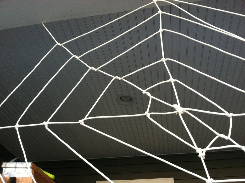 a tangled web make your own halloween spider web