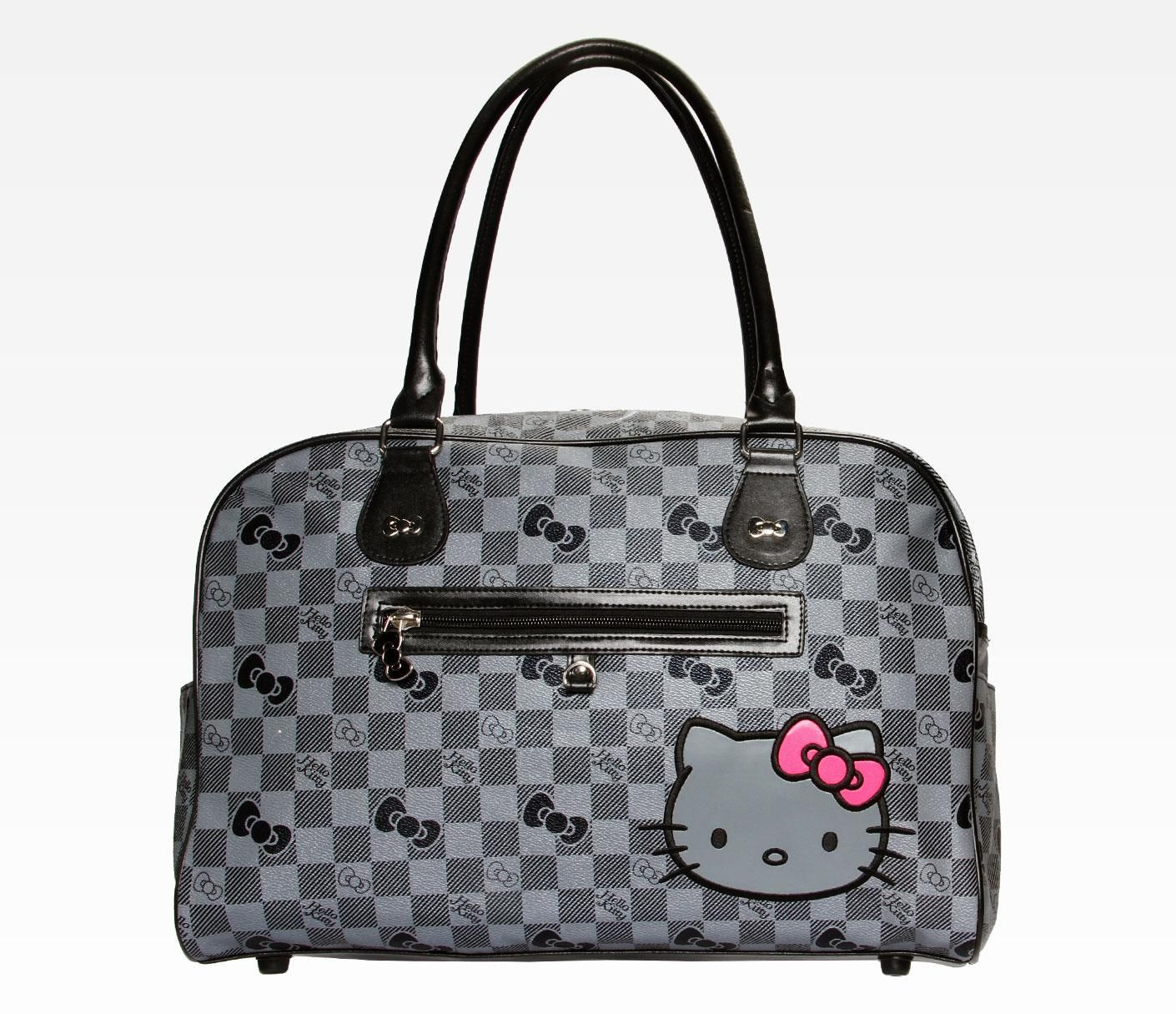 Hello Kitty Overnight Bag Grid In Bags At Sanrio