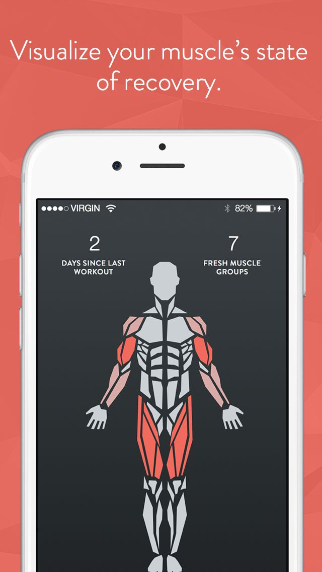 Visualize Your Muscle S State Of Recovery Workout Log At Home Workouts Workout Apps