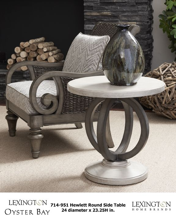 Hewlett Round Side Table And Glen Cove Chair