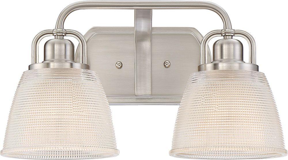 Quoizel DBN8602BN Dublin Brushed Nickel 2-Light Bathroom Lighting - QUO-DBN8602BN