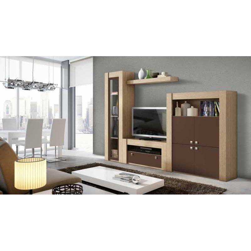 20d802285 Mueble de Salón Apilable diseño cambrian moka 240 cm Muebles Baratos