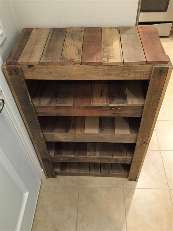 Great Diy Pallet Shoes Rack