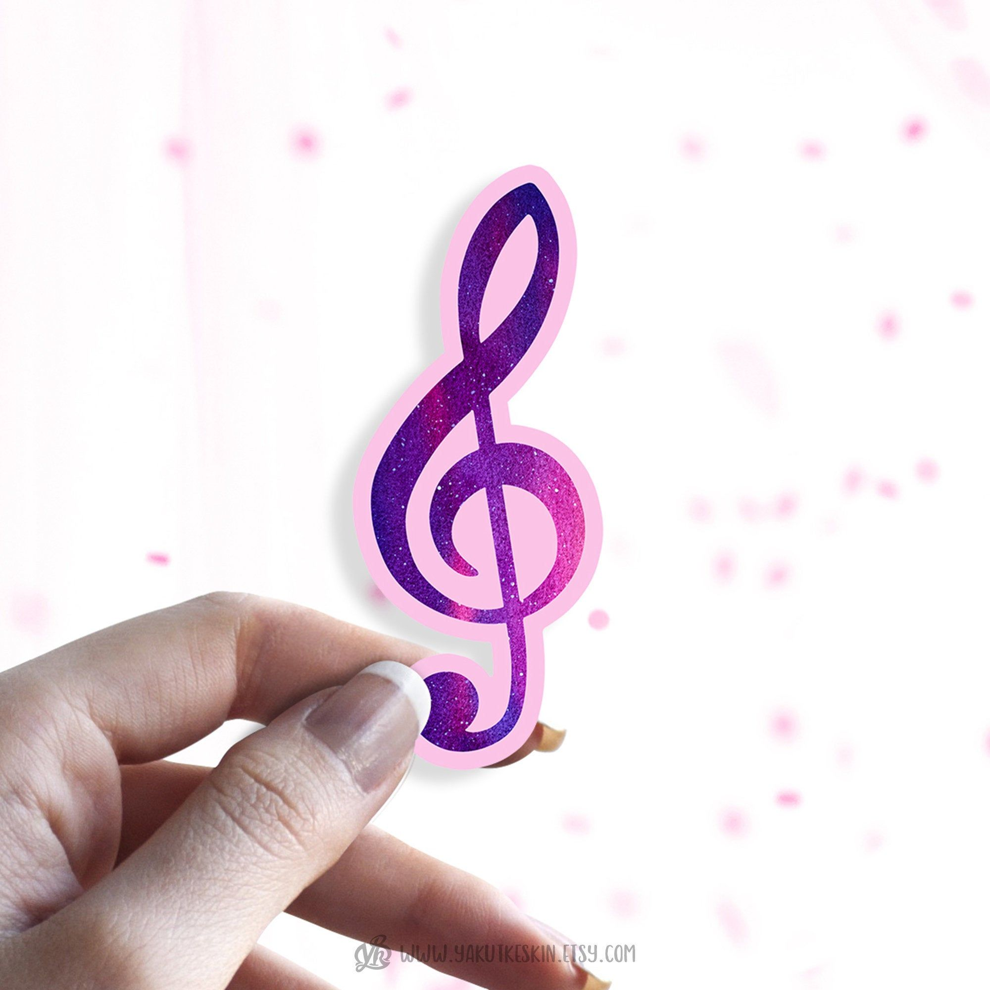 Watercolor Treble Clef Waterproof Vinyl Sticker Music Teacher Etsy In 2020 Music Teacher Gifts Vinyl Sticker Paper Vinyl Sticker