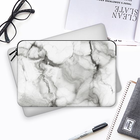 White Marble No. 3 - Macbook Sleeve