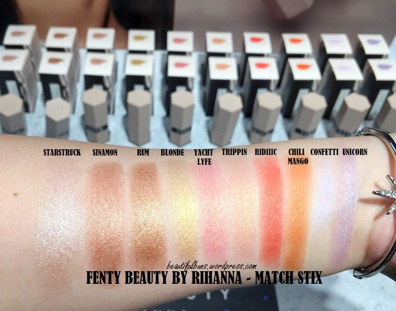 First impressions/Swatches: Fenty Beauty by Rihanna – Match Stix ...