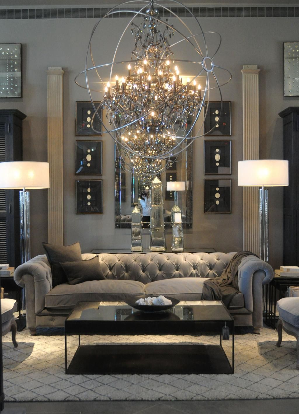 Look Inside Restoration Hardware's New Rh Atlanta Design Gallery Amusing Living Room Design Photos Gallery 2018