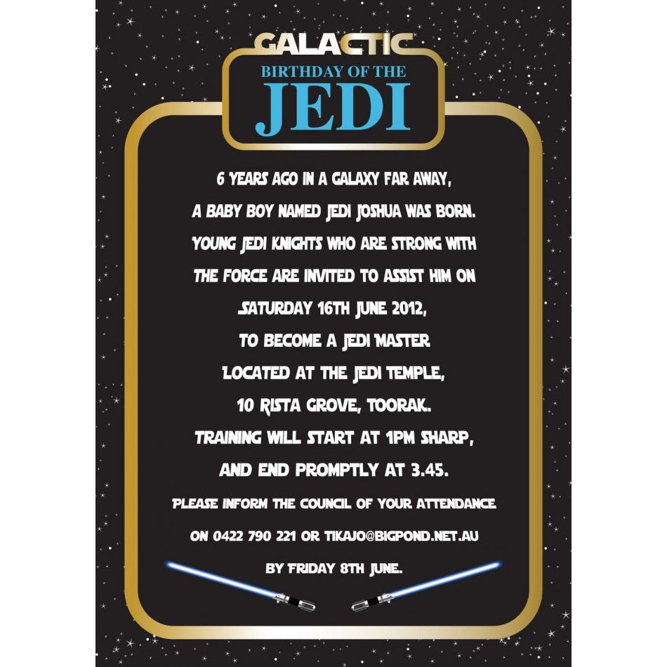 Invitation | Invitation wording, Star wars birthday and Birthday ...