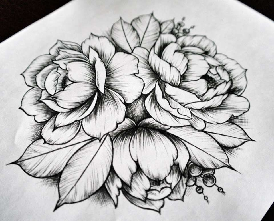 Check Out A Tattoo By Anna At Inkbe Com Tattoos Floral Tattoo Design Tattoo Sketches