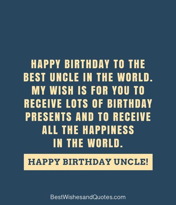 Happy Birthday Uncle, Uncle