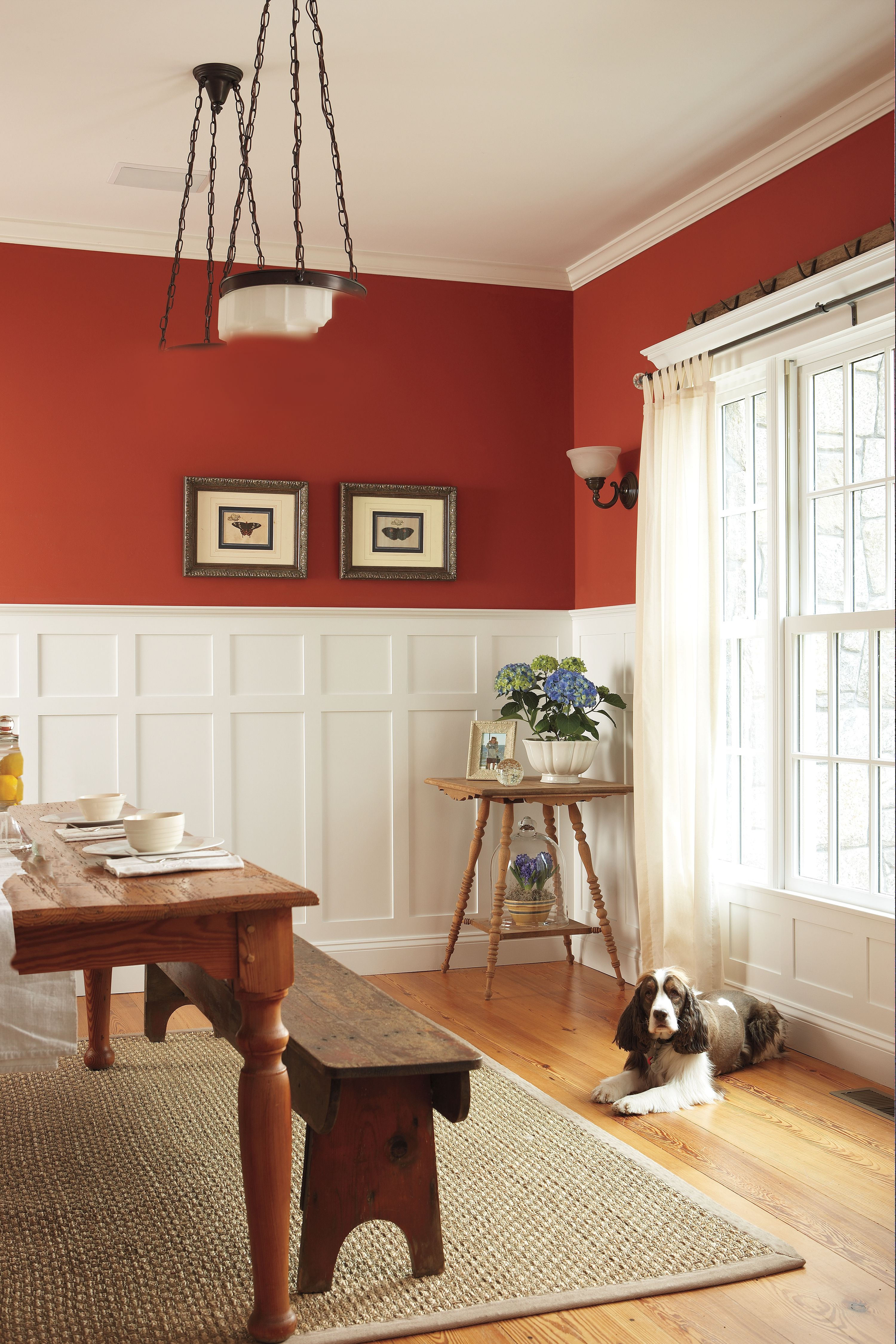 All About Wainscoting Dining Room Wainscoting Wainscoting Styles Red Dining Room