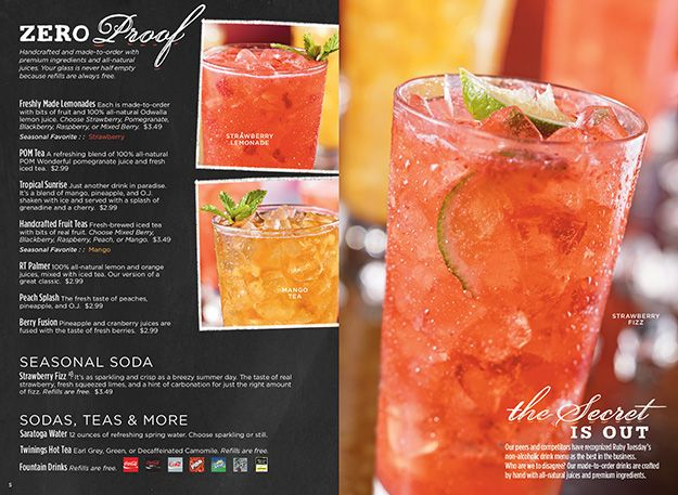 picture regarding Ruby Tuesday Printable Menu known as Beverages and Desserts, nevertheless predominantly Beverages Jap Desserts