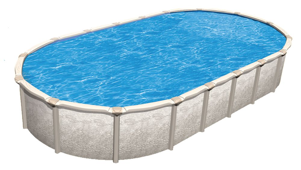 Biggest oval above ground pool 15x30 oval mediterranean - Largest above ground swimming pool ...
