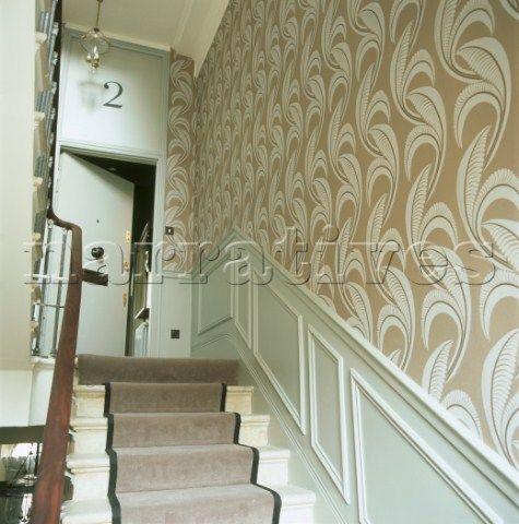 Best Wallpapered Stairwell Google Search Interior Interior 400 x 300